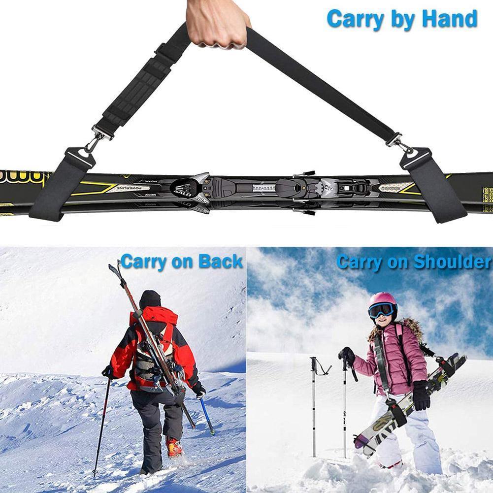 Correa de mano doble para esquí, accesorio ajustable para Snowboard, EVA, herramienta...