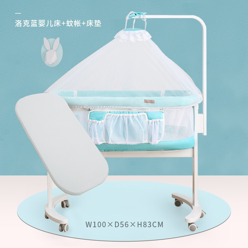 959 Crib Joint Bed Newborns BB Bed European Style Portable Multi-functional Babies' Bed Small Bed Movable Primary enlarge