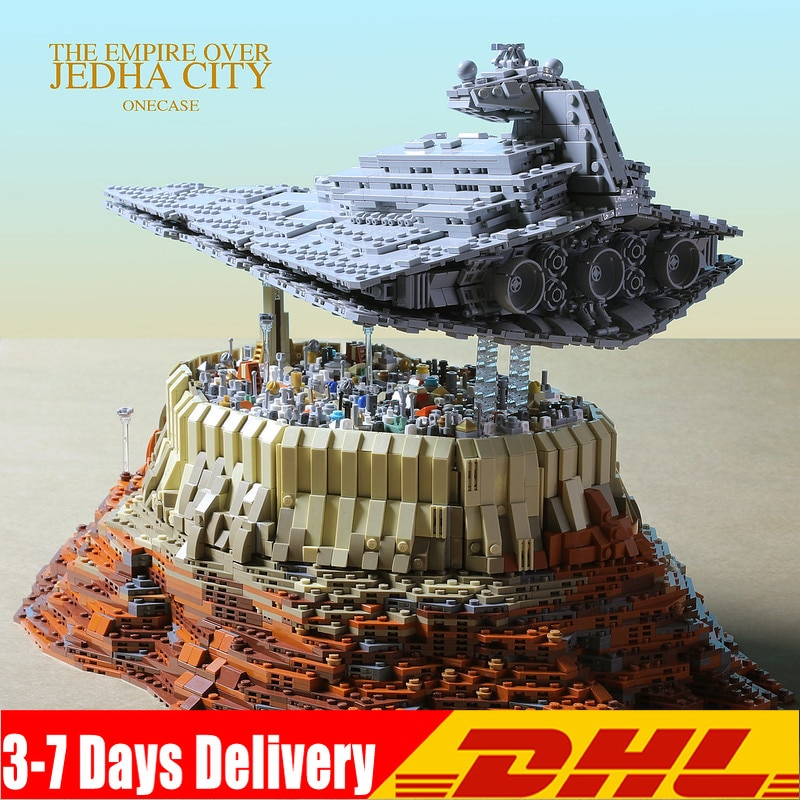 Imperial Star Destroyer crucero Wars El imperio sobre la ciudad de Jedha 18916 Compatible 05027 05028 05077 bloques de construcción