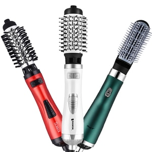Professional Hot Air Hair Dryer Brush Ionic Hair Curling Roller Low Noise Blow Dryer Comb Automatic Rotating Curling Waves Comb