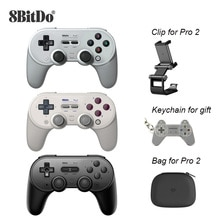 8Bitdo Pro 2 Bluetooth Controller Wireless Joystick Gamepad for Switch PC macOS Android Steam Raspbe