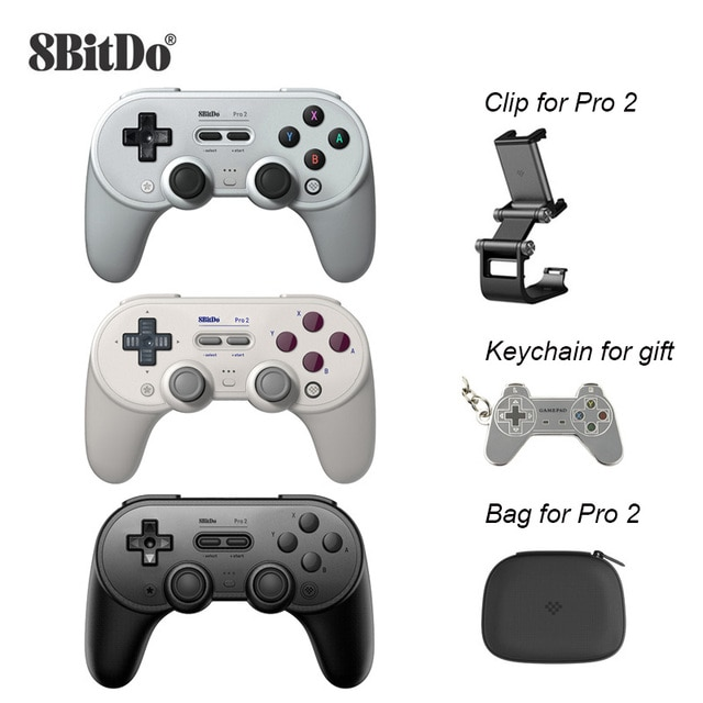 8Bitdo Pro 2 Bluetooth Controller Wireless Joystick Gamepad for Switch PC macOS Android Steam Raspberry Pi Game Accessories