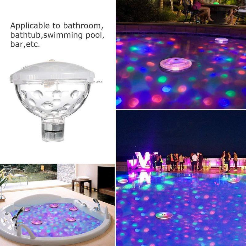 colorido flutuante diamante luz subaquatica rgb submersivel led disco party mostrar