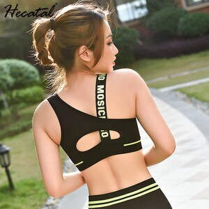 Women Yoga Set Letters Gym Sportwear Bra Pants Fitness Clothing For Women Sports Yoga Sets Tracksuit Female Sportswear