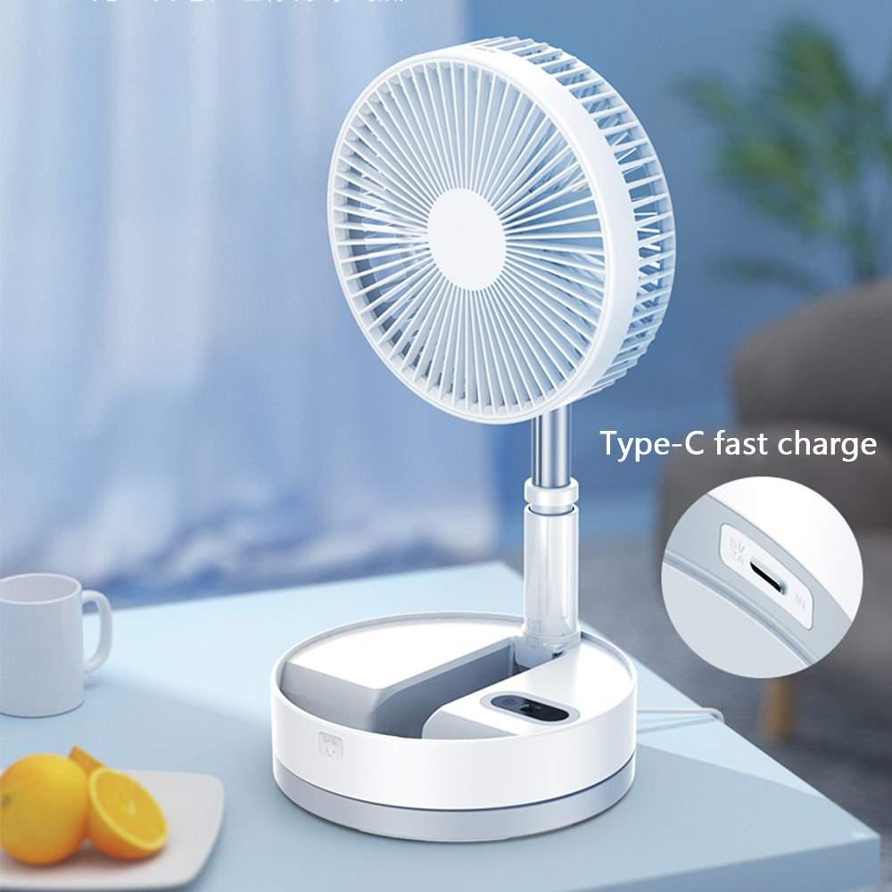 Mini ventilador extensible plegable, ventilador de Pedestal portátil recargable por USB con Control remoto, batería integrada de 10800mAh para el hogar