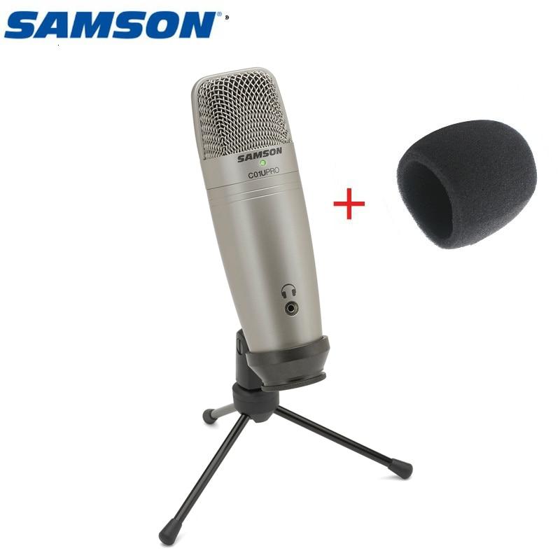 Оригинальный Samson C01u Pro Free Wind Sponge) Usb конденсаторный микрофон для студийной записи музыки youtube видео