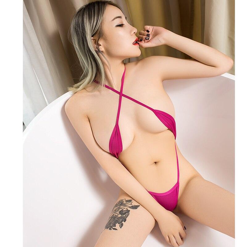 Mulher um pedaço maiô pornô bodysuits de festa sexy micro biquíni perspectiva string camisola nu expor barriga biquinis banho
