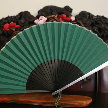 Estilo chino ventilador plegable De bambú Blanco clásico ventilador De fiesta De...