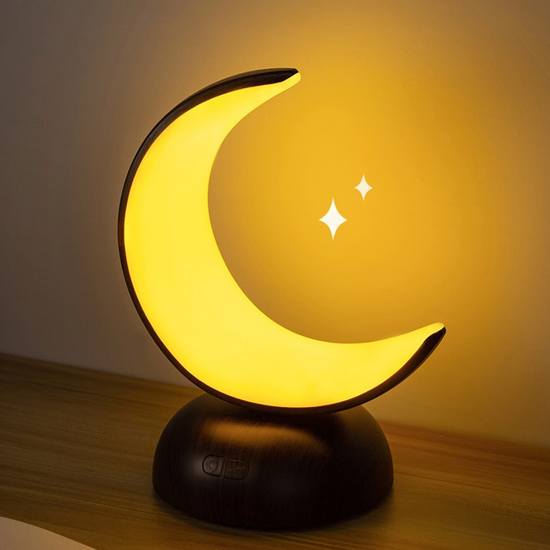 Moon Nightlight Portable office lamps Bedroom Night cap Desktop Led Table lamp Usb Loading Cute Baby Kids Sleeping lamp Home enlarge