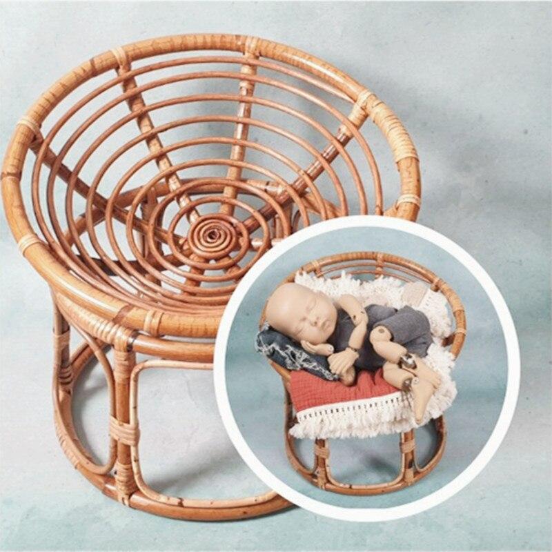 Newborn Photography Props Babies Accessories Newborn Baby Milestone Photo Accessori for Studio Photo Shoot Props Handmade Basket enlarge