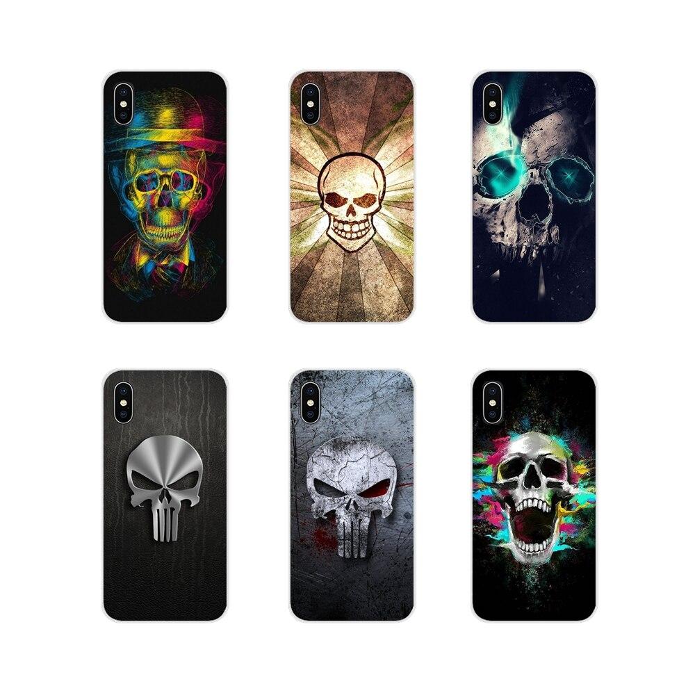 For Motorola Moto X4 E4 E5 G5 G5S G6 Z Z2 Z3 G G2 G3 C Play Plus Accessories Phone Cases Covers Interesting Skull