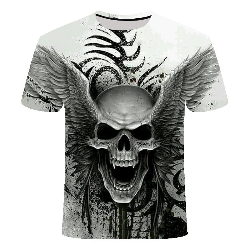 2019New Design футболка для мужчин/женщин с тяжелым металлическим принтом в виде черепа, футболки с 3D принтом, Повседневная футболка в стиле Харадзюку, уличная одежда