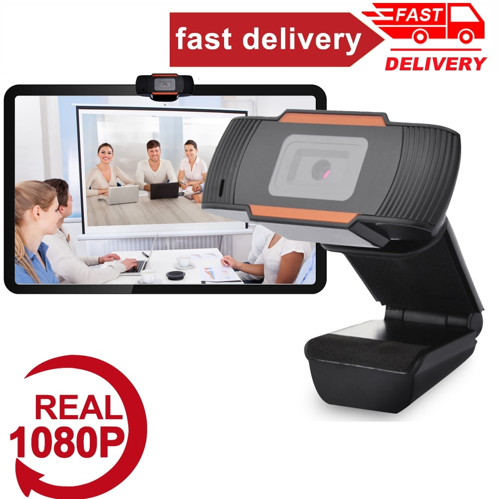 HOT!New 360 Degrees Rotatable 2.0 HD Webcam 1080p USB Camera Video Recording Web Camera With Microphone For PC Computer
