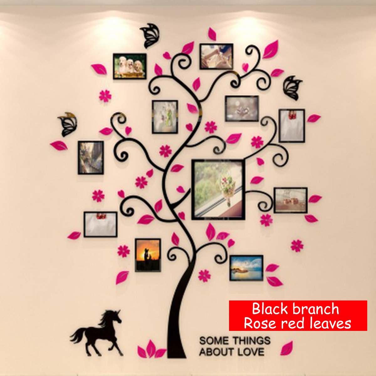 3D Wand Aufkleber Familie Foto Rahmen Baum Abnehmbare Acryl Fotoalbum Wand Decals Kunst Wohnzimmer Schlafzimmer Wohnkultur