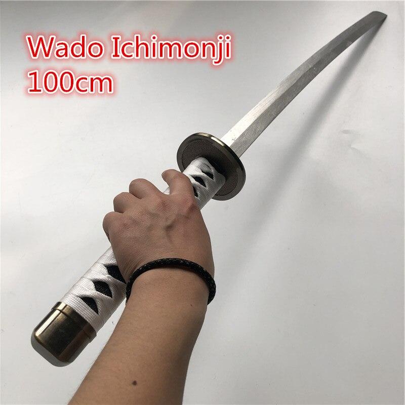 أنيمي رورونوا زورو السيف سلاح خشبي تأثيري المسلحة كاتانا إسبادا الخشب النينجا سكين سيف ساموراي الدعامة لعب للمراهقين