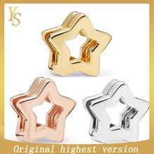 """YS100 % S925Beads hohe qualität hohe version 11 original """"Reflexions serie glänzende sterne"""" Beads767544 * 787544*797544"""