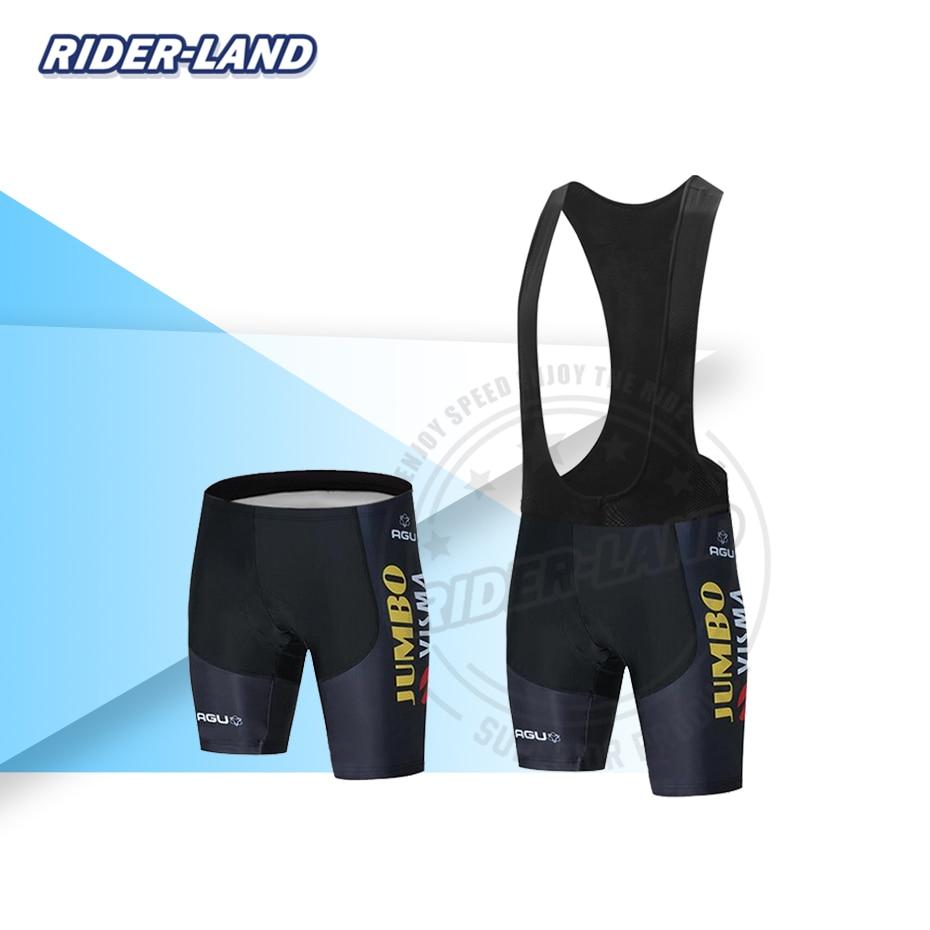 Nuevos pantalones cortos para ciclismo de equipo profesional, JUMBO VISMA 2020, campeón de verano para hombres, pantalones cortos con almohadilla de Gel 19D, transpirables de secado rápido para ciclismo de montaña