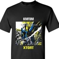 new fashion mens t shirt kmfdm xtort 1996 t shirt industrial music industrial rock industrial metal coat clothes tops