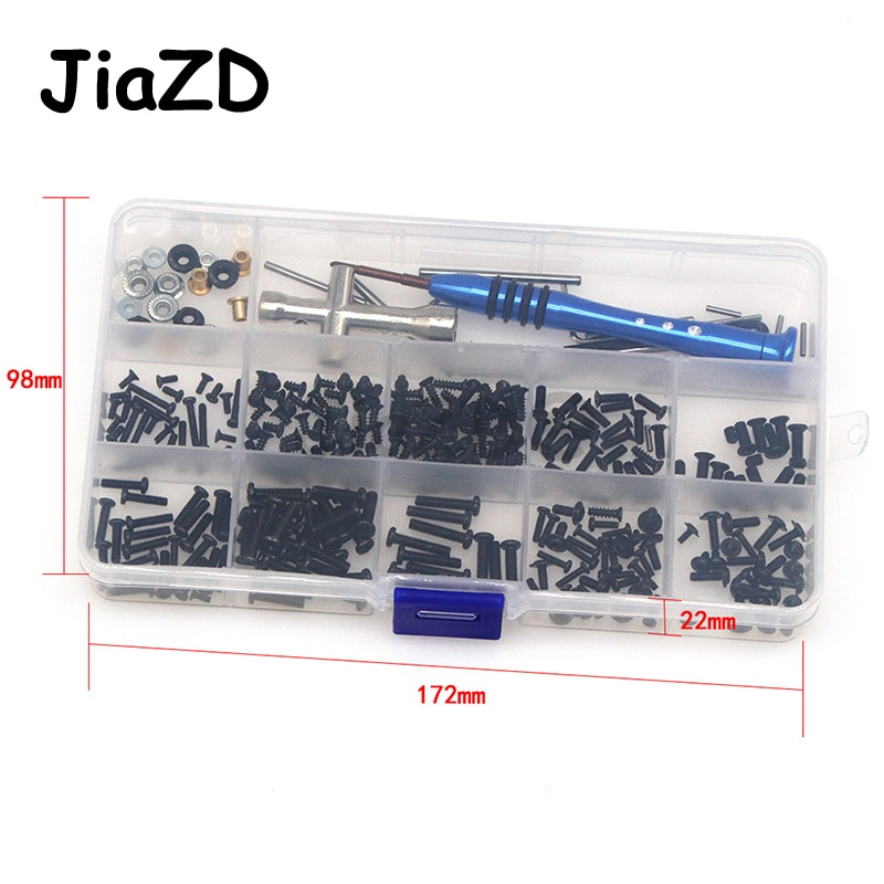 Screws Of The Whole Car Tool Kit Swing Arm Latch Flange Sleeve Screw Box For WLtoys  144001 1/14 Scale Drift RC CarAccessories enlarge