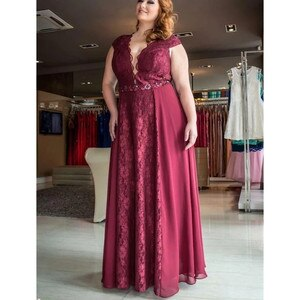 Plus Size Evening Dresses Long Ever Pretty Sexy Sleeveless  Burgundy Blush Pink Vintage  Party Gowns 001