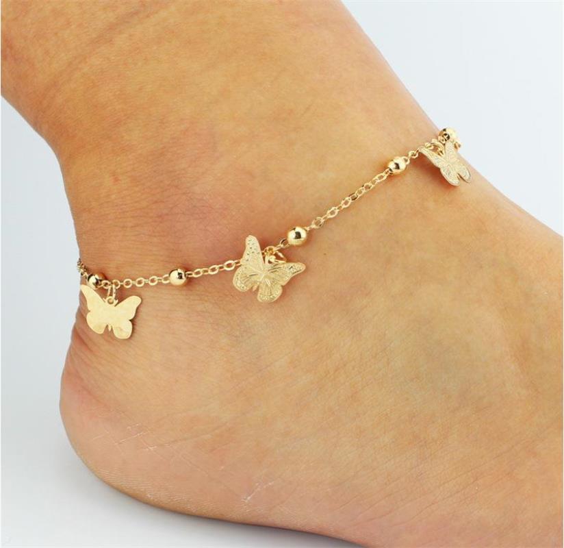 Sandalias pies descalzos baratas para zapatos de boda CADENA DE tobillera Sandel más caliente del dedo del pie del anillo de oro del dedo del pie de la joyería nupcial de la boda