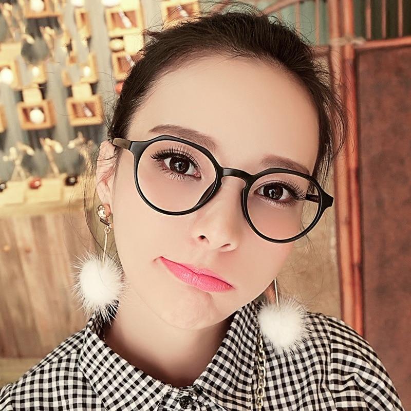 Summer Girl Fashion Vintage Oval Frame Sunglasses Women Clear Lens Flat Light Mirror Computer Eyewea