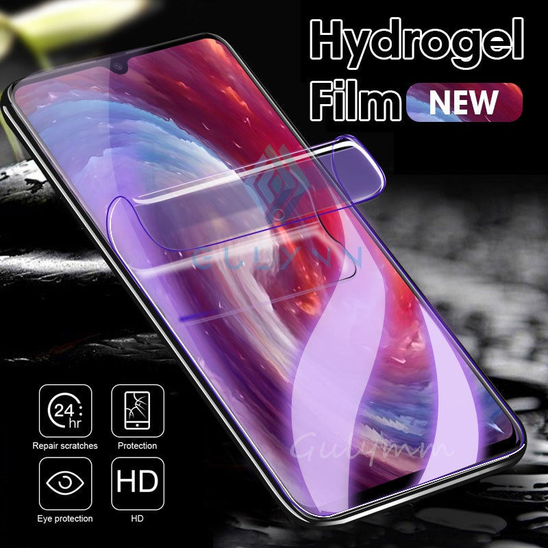 99D cubierta completa Anti luz azul película de hidrogel suave para Xiaomi rojo mi 7A 6Pro Note 8 7 6 5 K20 Pro mi 9T 9 película protectora de pantalla