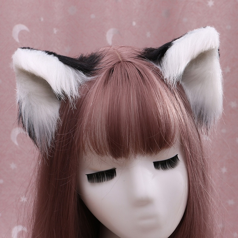 Cute Multiple Styles Plush Animal Ears Hairpins Lolita Sweet Fluffy Ear Cosplay Anime Hair Clips Party Costume Hair Accessories freee shipping cos anime ears cats hairpins diffuse maid catwoman lolita soft cute sister card