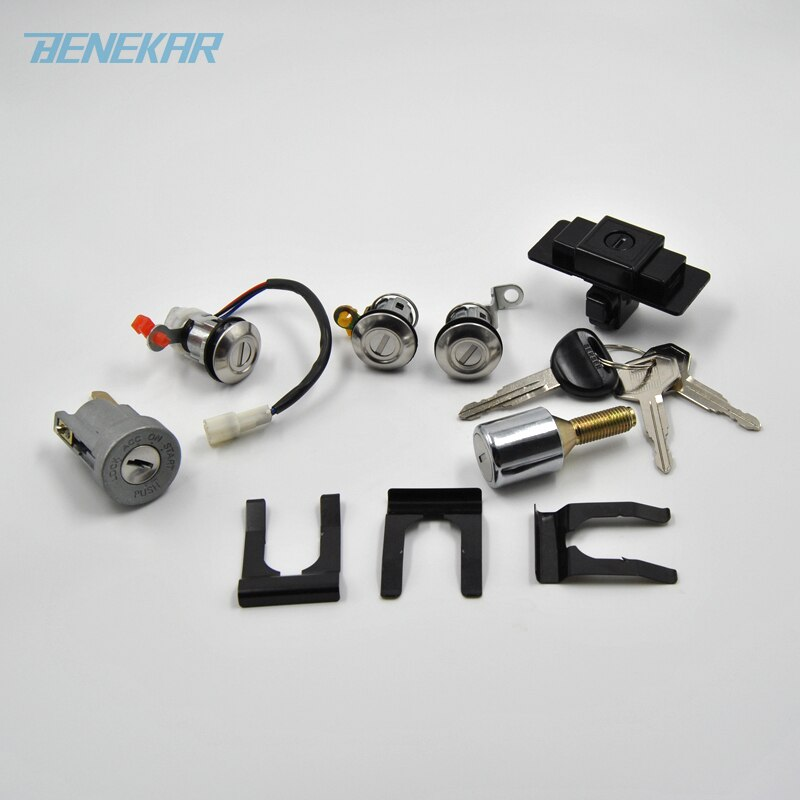 Benekar зажигание + перчаточный ящик + запасная шина + дверной замок цилиндр и ключ набор для Mitsubishi Pajero Montero MK2 2nd V32 4G54
