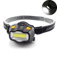 led headlamp frontal small bright headlight flashlight aaa lantern mini head light lamp torches for camping fishing lighting