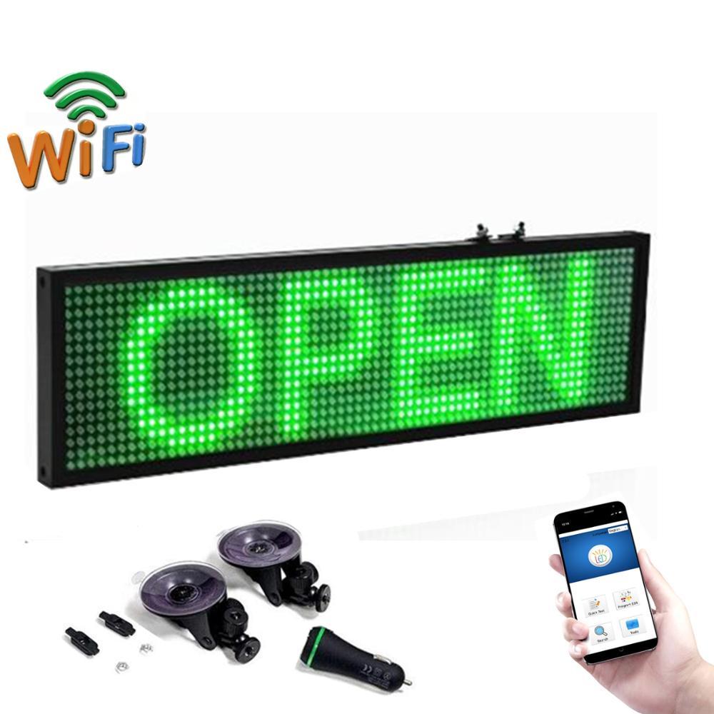 Автомобильный автобус P5, 12 В, светодиодный дисплей для сообщений, зеленый мобильный телефон, Wi-Fi, программируемый, прокрутка, продвижение ре...