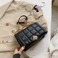 messenger bags shoulder bag women bag crossbody bags purse handbag retro pu leather lattice chain fashion solid color luxury bag