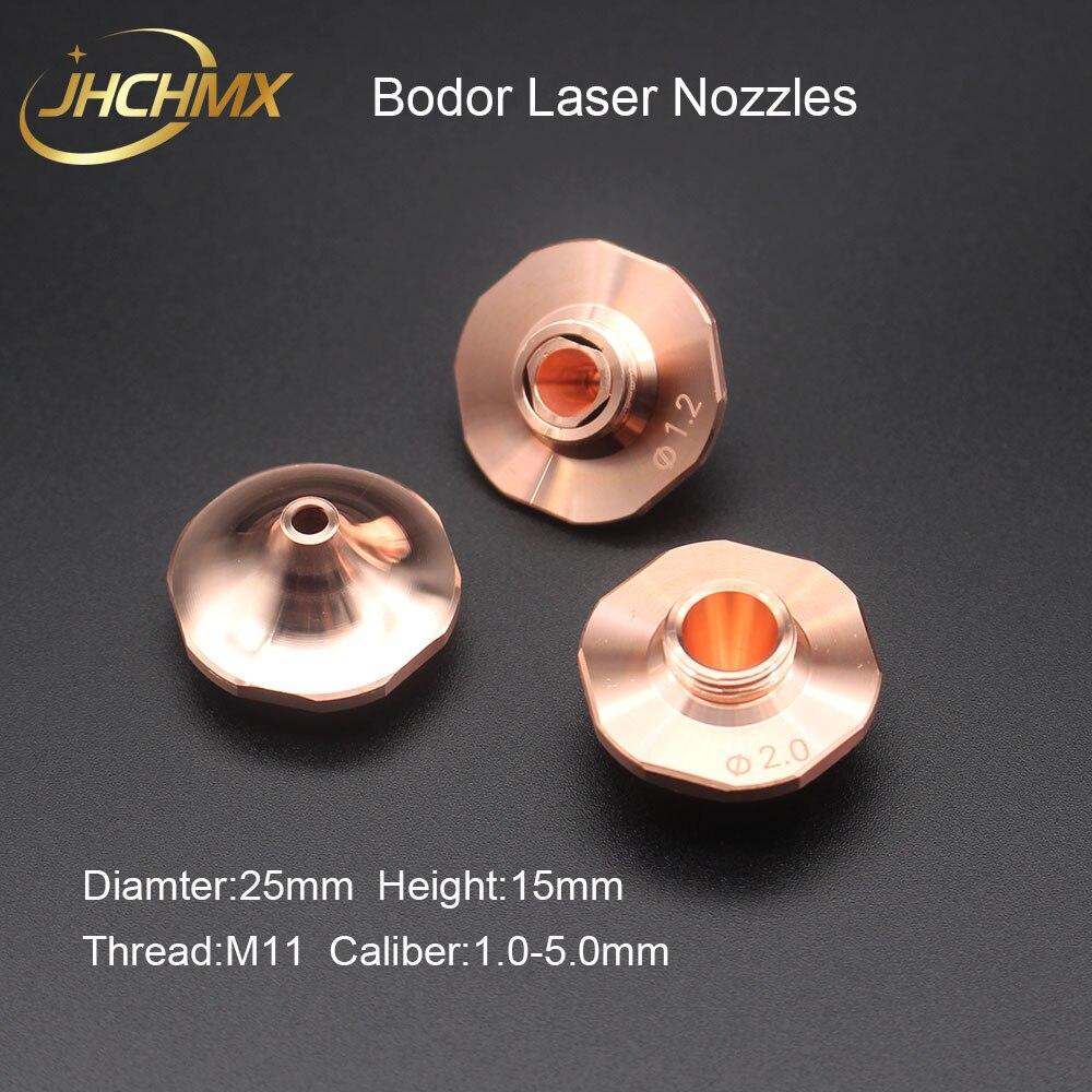 JHCHMX 10 unids/lote Bodor pequeño láser boquillas individual/doble capa Dia.25mm M11 calibre 1,0-5,0mm para Bodor máquina láser de fibra