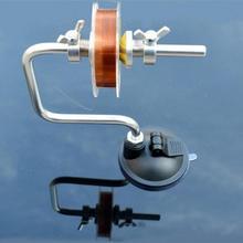 Ligne de pêche enrouleur ligne de bobine Portable aluminium moulinet de poisson système denrouleur outil dattirail ventouse mer carpe accessoires de pêche