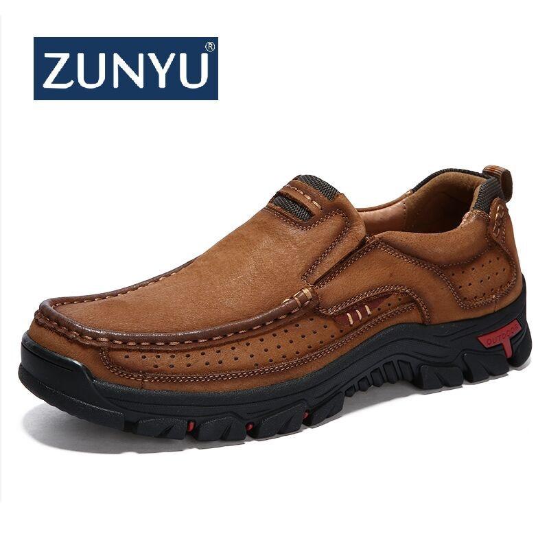ZUNYU Neue Echtem Leder Loafer Männer Mokassin Turnschuhe Flache Hohe Qualität Kausal Männer Schuhe Männlichen Schuhe Boot Schuhe Größe 38-48