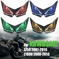 motorcycle headlight decoration sticker for kawasaki z750 z1000 z 750 1000 3d stickers head light fairing protection decals 2010