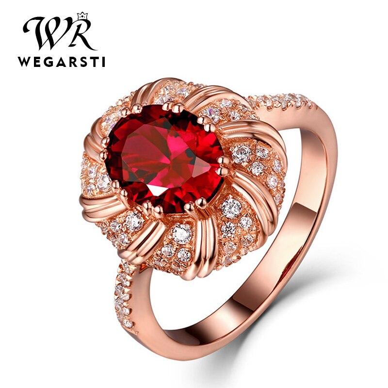 Anillo de rubí rojo creado por usthion, anillo de piedras preciosas 925 anillos de plata esterlina para mujer, anillo de amatista Natural fina para fiesta Cocktaill