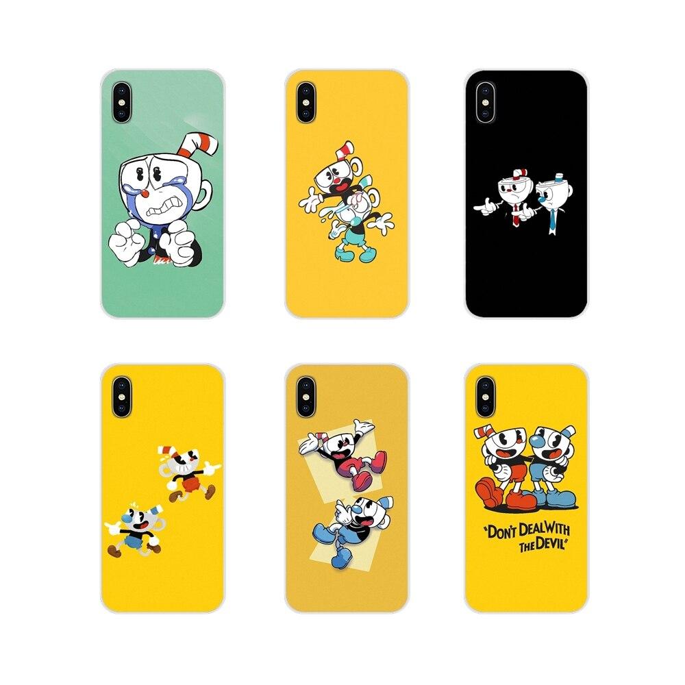 For Xiaomi Redmi Note 3 4 5 6 7 8 Pro Mi Max Mix 2 3 2S Pocophone F1 Accessories Phone Shell Covers Cuphead Cartoon