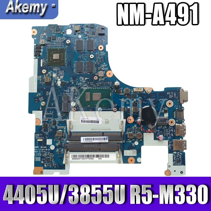 Akemy NM-A491 اللوحة المحمول لينوفو Ideapad 300-17ISK اللوحة الأصلية 4405U/3855U CPU R5-M330