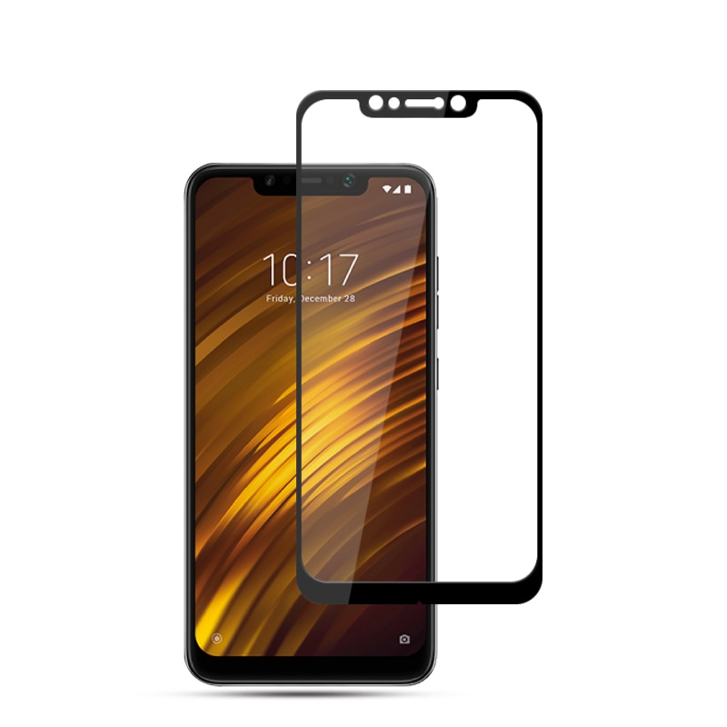 Fast delivery Phone Glass for Xiaomi Mi Pocophone F1 Glass Film Full Case Edge to Edge Cover for xia