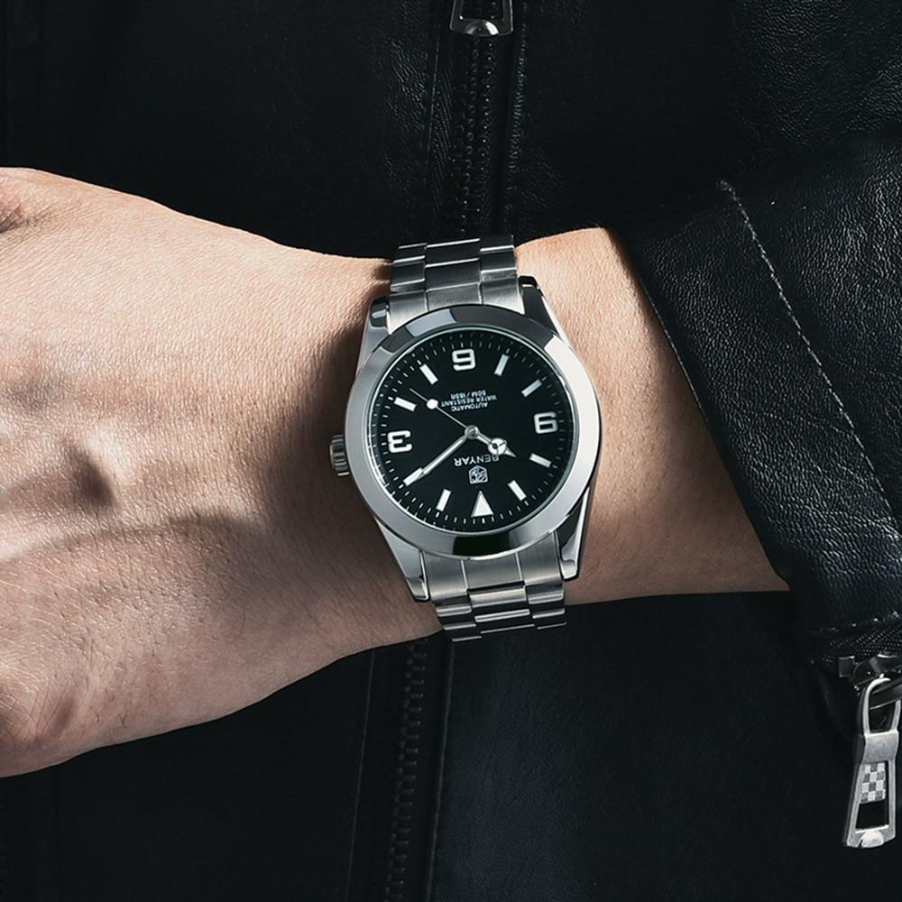 2021 BENYAR Men Watch 316L Steel Automatic Mechanical Tourbillon Clock Fashion 100M Waterproof Luminous Watches Automatic Moveme enlarge