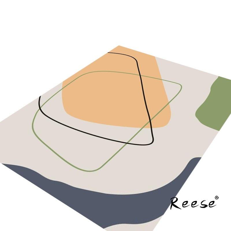 سجادة السرير الحديثة ريس حلم البرتقال الفن السجاد لغرفة النوم غرفة المعيشة المضادة للانزلاق أسفل سهلة نظيفة مجردة ديكور المنزل