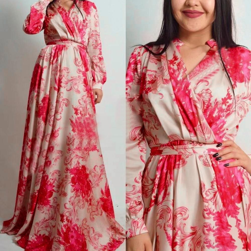 MD فساتين Dashiki طويلة الأكمام للنساء رداء حفلات الأفريقية فستان سهرة 2021 دبي الشيفون عباية قفطان ملابس السيدات رداء