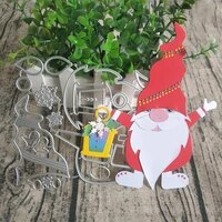 new christmas santa claus metal cutting mold used for diy scrapbooks cards photo album decorations handmade crafts