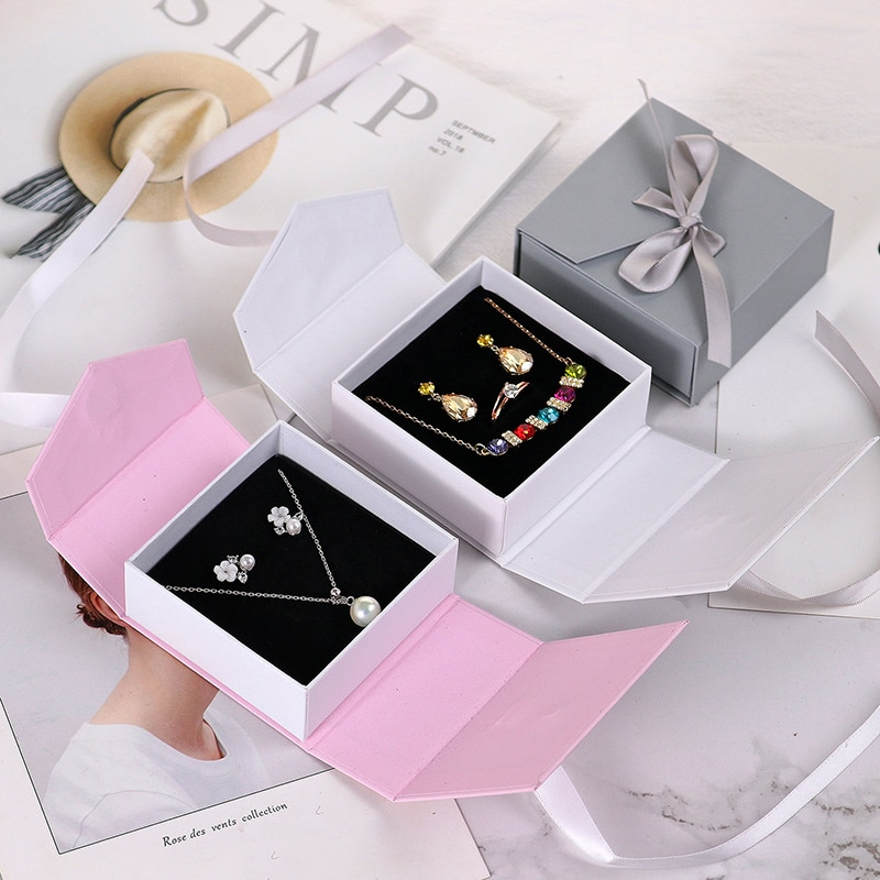 Bolsa de almacenamiento de joyería vacía portátil Mini anillo pendientes collar titular lindo viaje suministros de boda como regalo para las mujeres caja de joyería