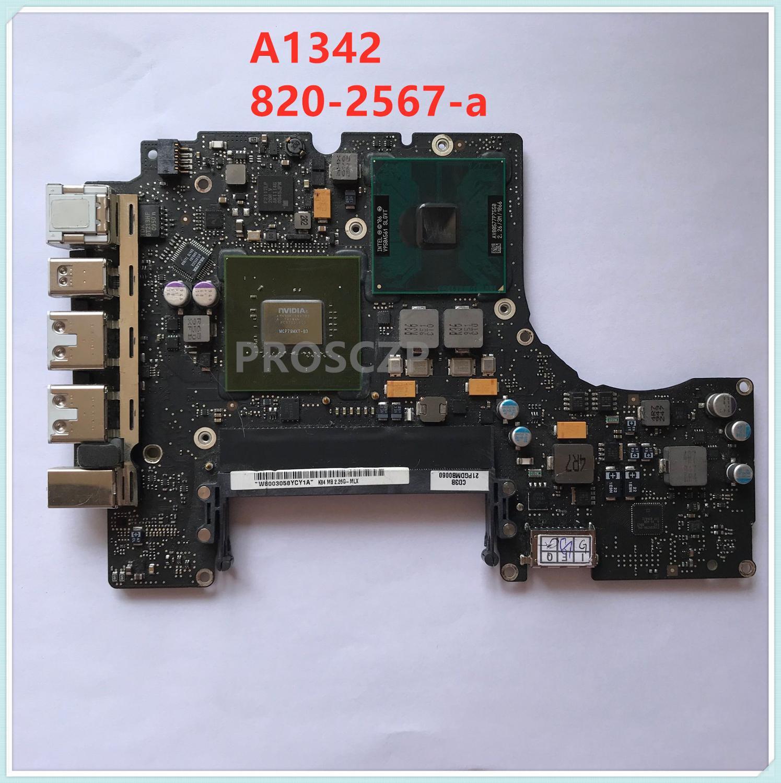 Para MacBook pro Unibody 13 A1342 13-A1342 820-2567-A 2009 años placa base de computadora portátil MCP79MXT-B3 DDR3 P7550 2,26 ghz 100% probado