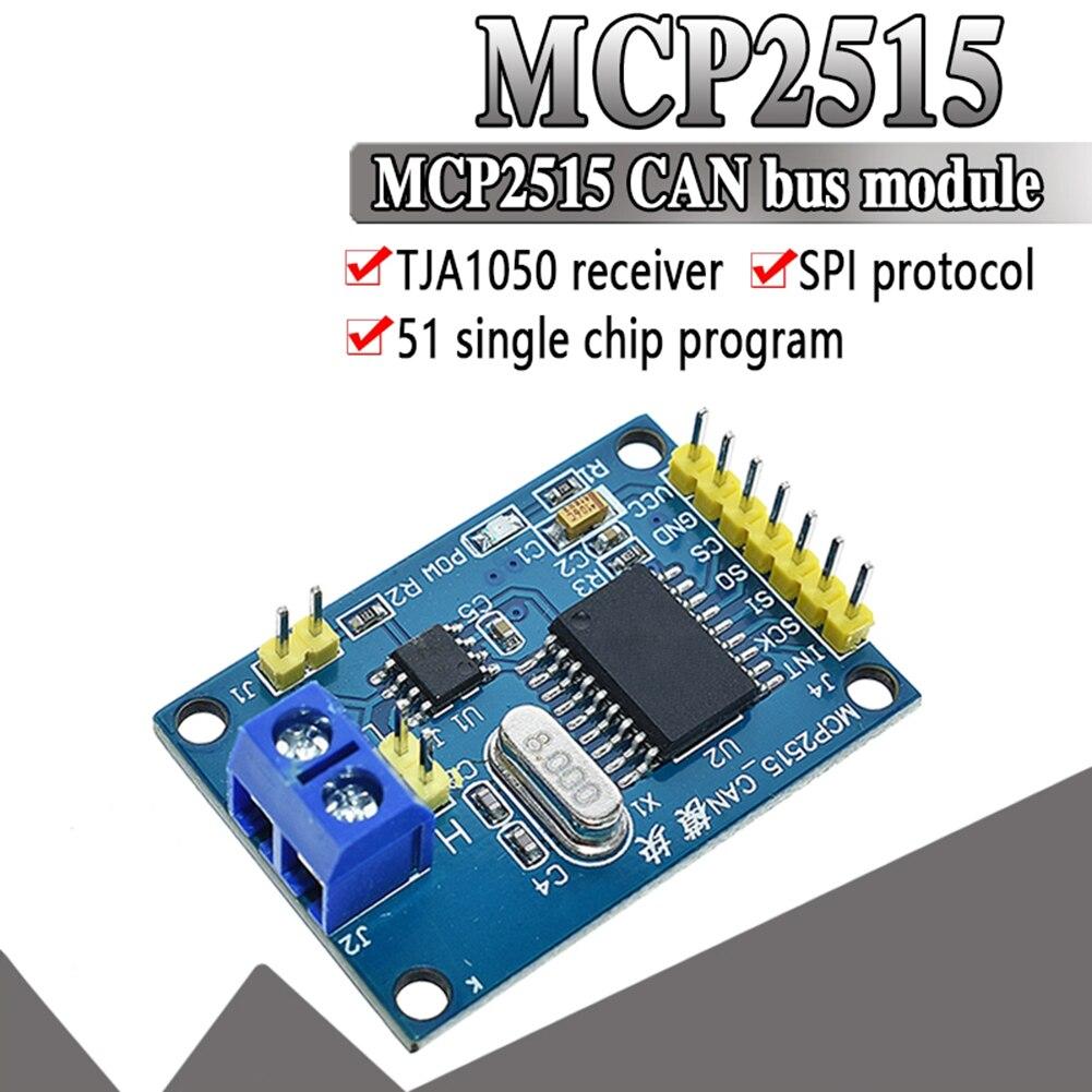 MCP2515 CAN Bus Driver Module Board TJA1050 Receiver SPI for 51 MCU Controller Interface Expansion Development Module Accessorie