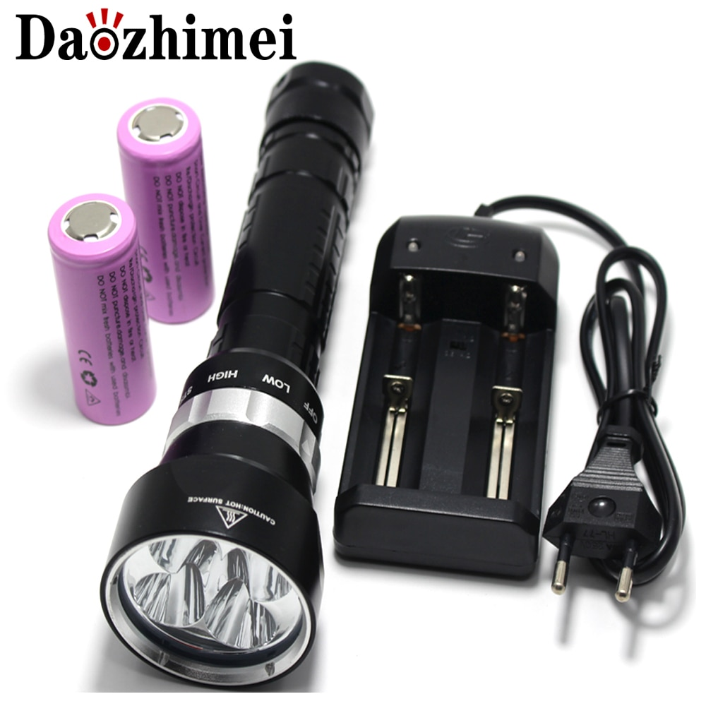 brinyte div03 led scuba diving torch high quality waterproof cree xm l l2 underwater 200m led mini diver diving light flashlight Diving Flashlight 4 x XM-L L2 8000 Lumens Underwater 200m Scuba Diver LED Light Torch By 3.7V 18650 or 26650