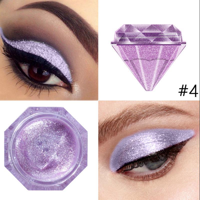 Sombra de ojos resistente al agua 6-Color diamante líquido de perlas sombra de ojos líquido brillante cosméticos para maquillaje herramientas TSLM2