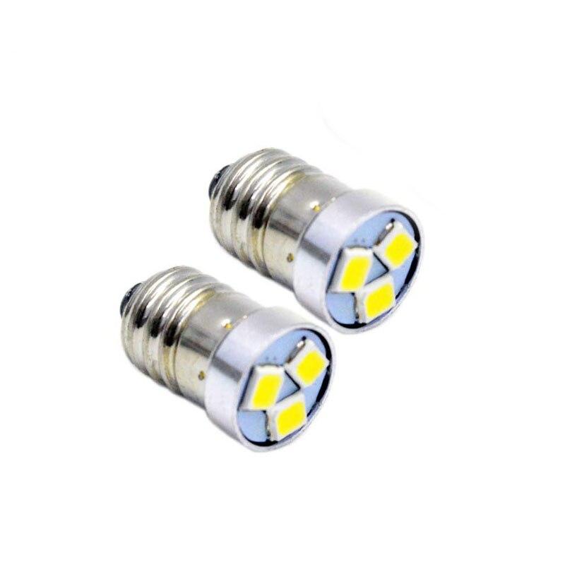 Led lâmpada de atualização 200lm para 2/3/4 c/d lanterna tocha bicicleta lâmpada e10 3 v 4.5 v 6 v 12 v